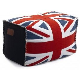 LAZY LIFE PARIS Bel Air Pouf Hocker UK Flag 296-BB-CAL