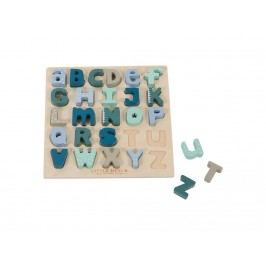 LITTLE DUTCH Holz-Puzzle Alphabet Mint 4370
