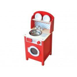 INDIGO JAMM® Holz Spüle Holz Waschmaschine Mini Washing KIJ10058