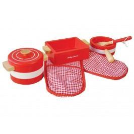 INDIGO JAMM® Holz Kochgeschirr Pots n Pans Red KIJ0059