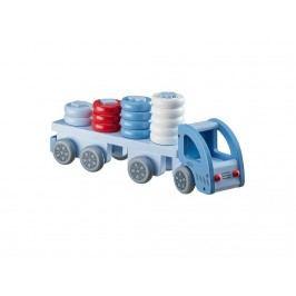 KIDS CONCEPT Lastwagen Steckspiel Blau aus Holz 412881