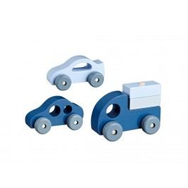 KIDS CONCEPT Holzautos 3er-Set Blau 412460