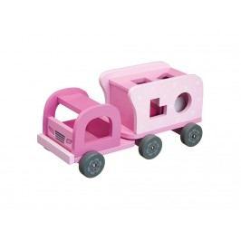 KIDS CONCEPT Lastwagen Steckspiel Rosa aus Holz 412231