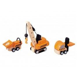 PLAN TOYS PlanToys Baustellenfahrzeuge 3er-Set 4006087