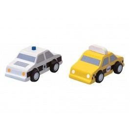 PLAN TOYS PlanToys Taxi & Polizeiauto 4006073