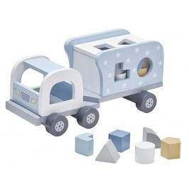 KIDS CONCEPT Lastwagen Steckspiel Blau/Weiß 1000171