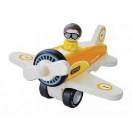 INDIGO JAMM® Holzflugzeug mit Pilot Percy Plane IIJ8091