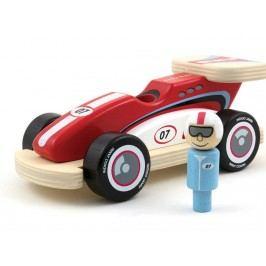 INDIGO JAMM® Holz Rennauto mit 1x Rennfahrer Racing Rocky IIJ8041