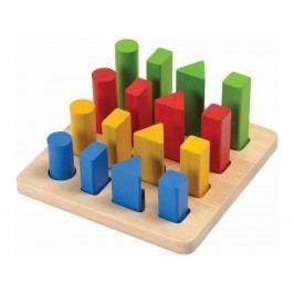 PLAN TOYS PlanToys Lernspiel Geometrie Stifte 4005125