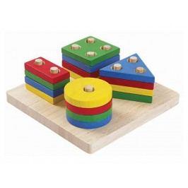 PLAN TOYS PlanToys Steckspiel mit geometrischen Formen 4002403