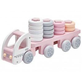 KIDS CONCEPT Lastwagen Steckspiel Rosa/Weiß 1000172