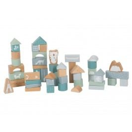 LITTLE DUTCH Adventure 50 Holzbausteine inkl. Box Blue 4413