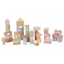 LITTLE DUTCH Adventure 50 Holzbausteine inkl. Box Pink 4412