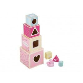 LITTLE DUTCH Pink Blossom Holz-Stapelturm , 4358