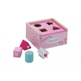 LITTLE DUTCH Pink Blossom Formen-Steckspiel Holz , 4350