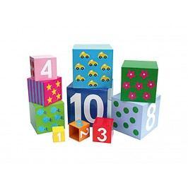JABADABADO JaBa Puzzle Stapelwürfel 1-10, Bunt K560