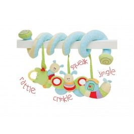 LITTLE BIRD TOLD ME , Baby-Activity Spirale Raupe LB3011