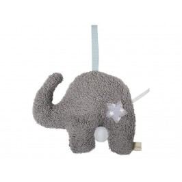 LOTTAS LABLE® Frottee Spieluhr Elefant Eldori 23x19cm 6051-1