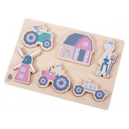 SEBRA® Holzpuzzle Farm Blau 3015102