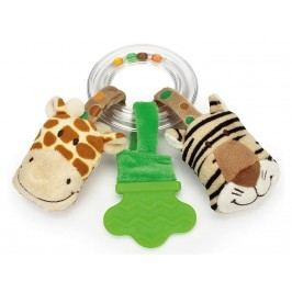 TEDDYKOMPANIET® Diinglisar Wild Rasselring Giraffe & Tiger 452058