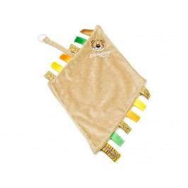 TEDDYKOMPANIET® Diinglisar Wild Schmusetuch mit Schnullerhalter Löwe 452306