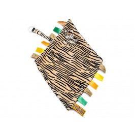 TEDDYKOMPANIET® Diinglisar Wild Schmusetuch mit Schnullerhalter Tiger 452305