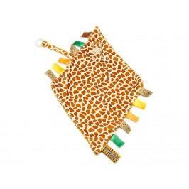 TEDDYKOMPANIET® Diinglisar Wild Schmusetuch mit Schnullerhalter Giraffe 452304