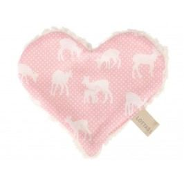LOTTAS LABLE® Knistertuch Herz Linda Lou Fawn 4601-7