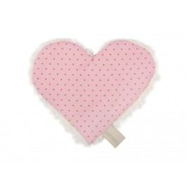 LOTTAS LABLE® Knistertuch Herz Linda Lou Dots Rosa 4601-5