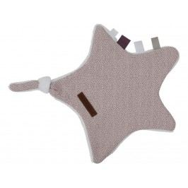 LITTLE DUTCH Waves Kuscheltuch Stern Mauve 6339