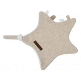 LITTLE DUTCH Waves Kuscheltuch Stern Beige 6329