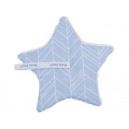 LITTLE DUTCH Leaves Schnullertuch Blue 15x15cm 3926