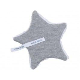 LITTLE DUTCH Melange Schnullertuch Grey 15x15cm 3921
