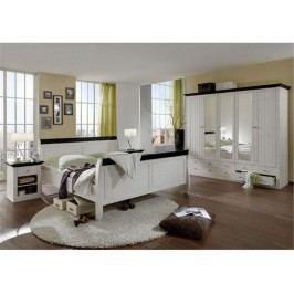 STEENS Monaco Schlafzimmer-Set 4-teilig: Bett Kleiderschrank Nachttisch 7317000213001F