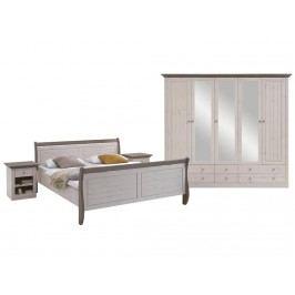 STEENS Monaco Schlafzimmer-Set 4-teilig: Bett Kleiderschrank Nachttisch