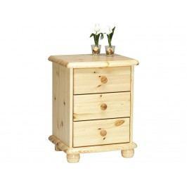 STEENS Nachttisch auf Kugelfüßen mit 3 kleinen Schubladen 2022030019000N
