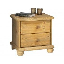 STEENS Nachttisch auf Kugelfüßen mit 2 Schubladen 2022020030000N