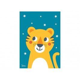 JULICA Zookids Design Poster Tiger mit Leuchtsternen 50x70cm 100703