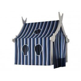 DOLPHIN Holzturm Weiß mit Textilien für Piraten-Spielbett *B-Ware*
