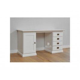 ALTA FURNITURE Schreibtisch mit 1 Tür und 4 Schubladen Breite 145cm Snow White ALTA furniture 5470-49