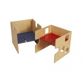 BABYBAY TOBI Kinder Sitzgruppe Babycube 1x Stuhl und 1x Tisch Natur lackiert Wandelstuhl 320101