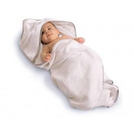 BABYBAY TOBI Babybay Kapuzenhandtuch Weiß mit Stern Perlgrau 100x100cm 500602