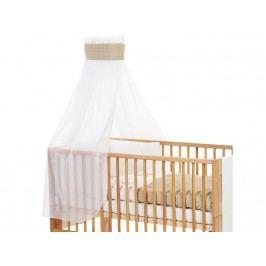 BABYBAY TOBI Betthimmel Weiß Punkte Banderole Sand für Kinderbett Babybay 400737