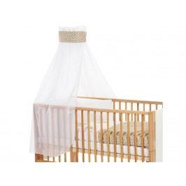 BABYBAY TOBI Betthimmel Weiß Punkte Banderole Sand für Kinderbett Babybay 400736