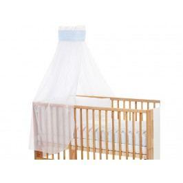 BABYBAY TOBI Betthimmel Weiß mit blauer Punkte Banderole für Kinderbett Babybay 400725