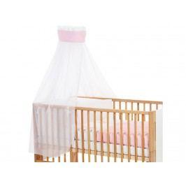 BABYBAY TOBI Betthimmel Weiß mit Rosa Stern Banderole für Kinderbett Babybay 400724