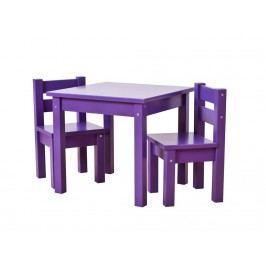 HOPPEKIDS MADS Kinder Sitzgruppe 3-Teilig 2Stühle - 1 Tisch Lila 36-1025-86