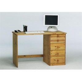 STEENS Schreibtisch mit 5 Schubladen Klarlackiert | Gelaugt Geölt 1632710030000N