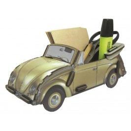 WERKHAUS Stiftebox - Zettelbox VW Käfer Gold-Farbend WE 2042