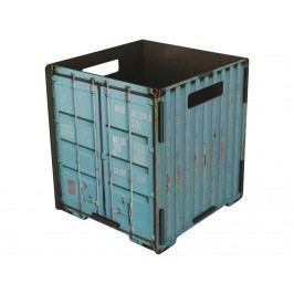 WERKHAUS Papierkorb Container Türkis CO 1033
